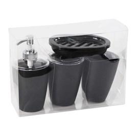 kit p/banheiro mebuki classic preto