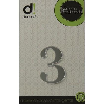 Número Residencial Acrílico Espelhado 5cm - 3