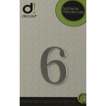 Número Residencial Acrílico Espelhado 5cm - 6