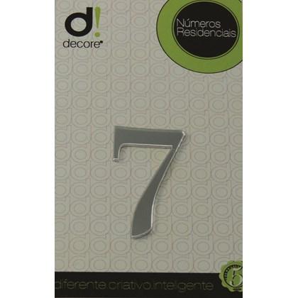 Número Residencial Acrílico Espelhado 5cm - 7