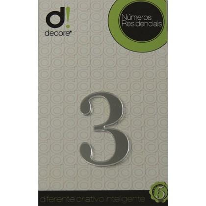 Número Residencial Acrílico Espelhado 7cm - 3