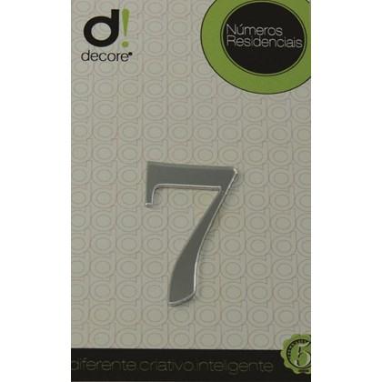 Número Residencial Acrílico Espelhado 7cm - 7