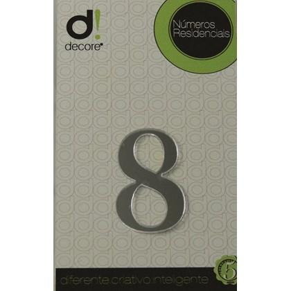 Número Residencial Acrílico Espelhado 7cm - 8