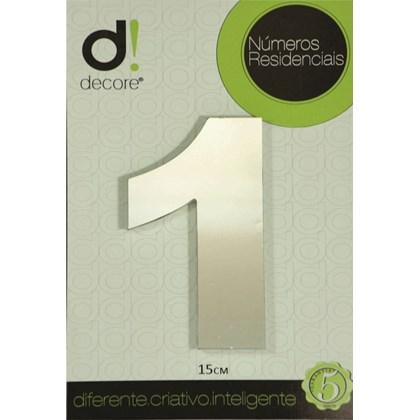 Número Residencial Alumínio Espelhado Cromado 15cm - 1
